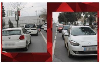 Kavşaktan geçemeyen TIR, trafiği kilitledi!