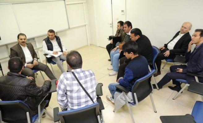 Haliliye'de görme engelliler için KPSS kursu açıldı