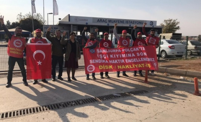 Şanlıurfa'daki işçiler eyleme devam ediyor
