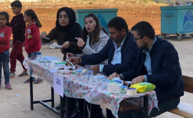 Şanlıurfa'daki okulda yemek yarışması yapıldı