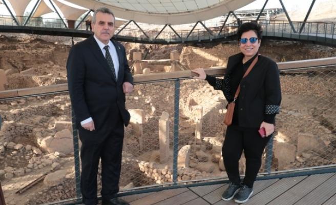 Milliyet  yazarı Göbeklitepe'yi ziyaret etti
