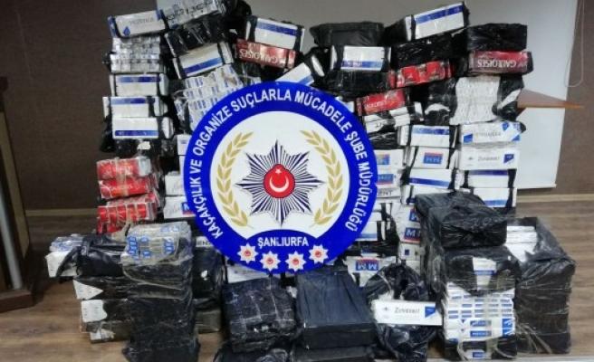 Şanlıurfa'da 114 bin paket kaçak sigara ele geçirildi