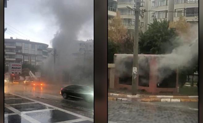 Karaköprü'de elektrik trafosunda yangın çıktı