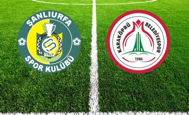 Urfaspor ve Karaköprü bugün maça çıkıyor