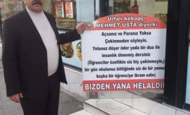 Ankara'daki gönlü zengin Urfalı'dan alkışlanacak hareket