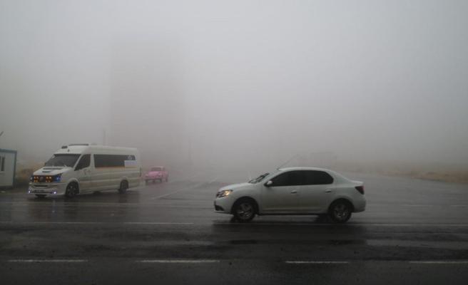 Şanlıurfa sis ve yağışlı hava etkili oluyor