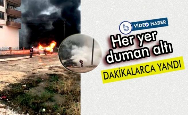Şanlıurfa'da araç yangını!