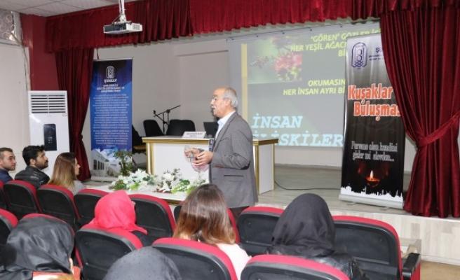Urfa'da öğrenciler 'Kuşaklar Buluşması' konferansına katıldı