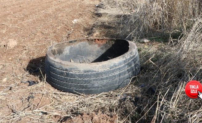 Şanlıurfa'da lastik içerisine gizlenmiş patlayıcı imha edildi