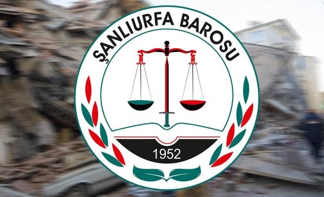 Urfa Barosu'ndan Elazığ ve Malatya'daki avukatlara çağrı