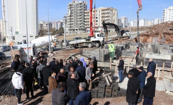 Karaköprü'de cami temeli atıldı