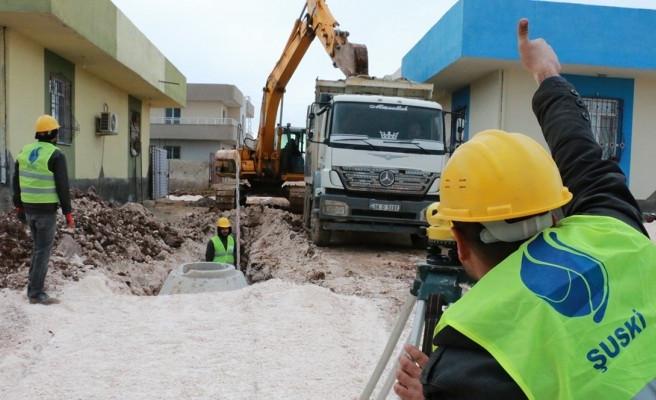 ŞUSKİ, Viranşehir'de kanalizasyon çalışmalarına başladı