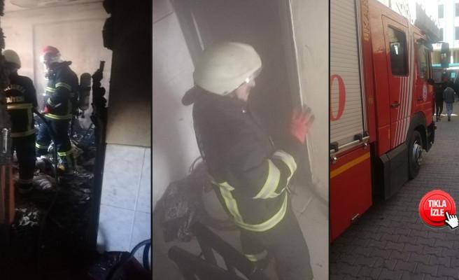 Eyyübiye'deki yangına itfaiye müdahale etti
