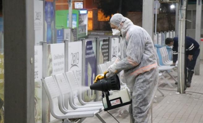 Urfa'da toplu taşımalar dezenfekte ediliyor