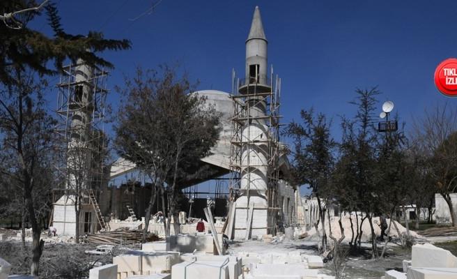 Eyüpnebi'deki cami inşaatında çalışmalar sürüyor
