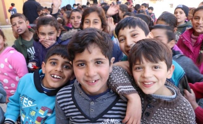 Suriyeli çocuklar, 'Güvenli Bölge'de huzura kavuştu