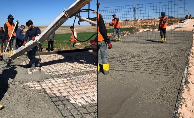 Viranşehir'deki 5 mahallede beton yol çalışması başladı
