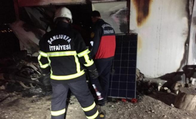 Urfa'daki taş ocağında yangın