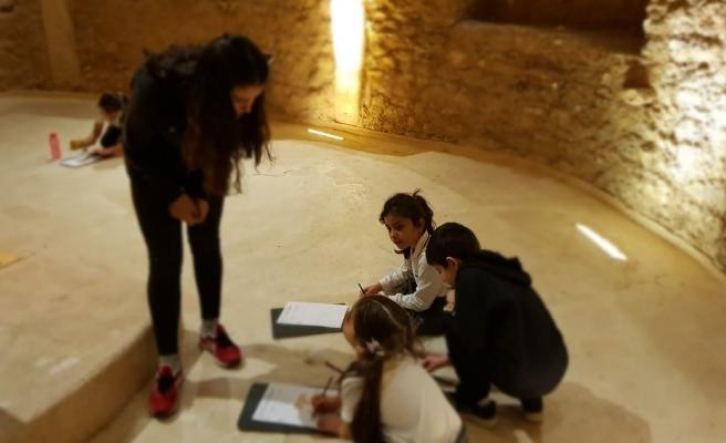 Şanlıurfa'da öğrenciler Göbeklitepe'yi resmediyor