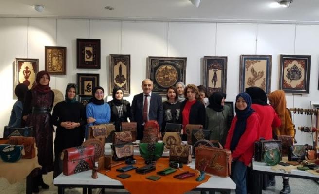 Urfa'da sergi: El emekleri sanata dönüştü