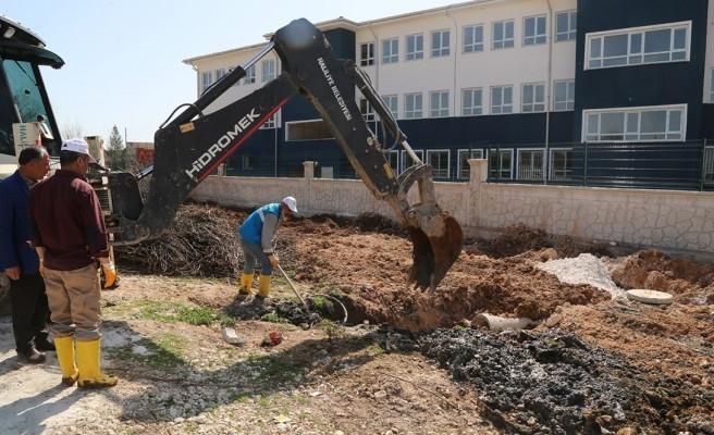 Haliliye'de ekipler öğrenciler için önlem aldı