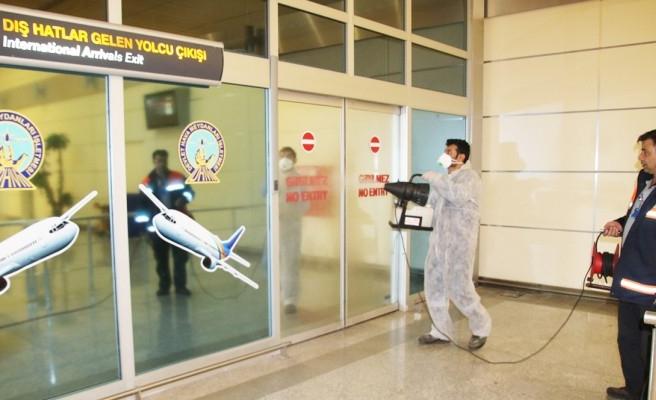 GAP Havalimanında koronavirüs önlemleri alındı