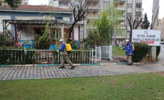Haliliye'de koronavirüs temizliği: Taziye evleri, camiler, okullar...