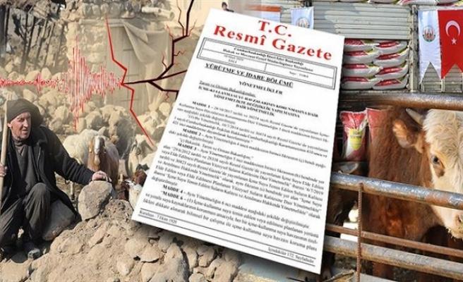 Depremzede Çiftçilere Devlet Garantisi