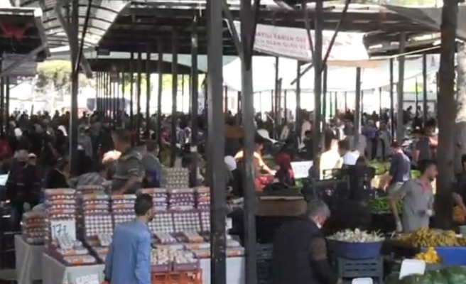 Urfa'da semt pazarlarındaki yoğunluk sürüyor!