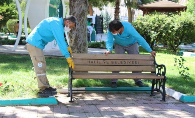Haliliye'de parklar, 1 Haziran'a hazırlanıyor