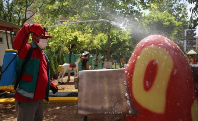 Urfalı çocuklar için Oyuncak Müzesi dezenfekte edildi