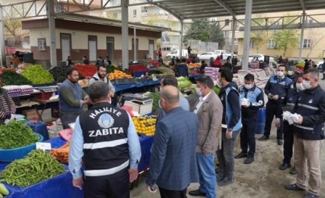 Haliliye'de hedef 1 milyon maske: 585 bine ulaşıldı