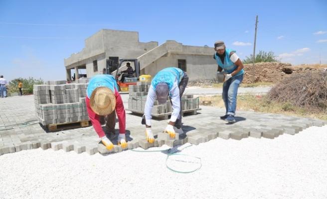 Eyyübiye'deki parke çalışmaları sürüyor