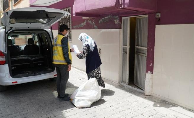 Haliliye'de yardımlar devam ediyor