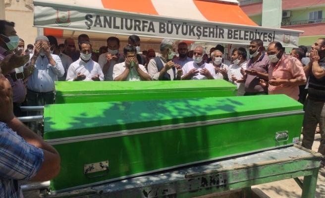 Sivas'ta boğulan kardeşler Urfa'da defnedildi