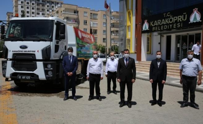 Karaköprü Belediyesi araç filosunu genişletti