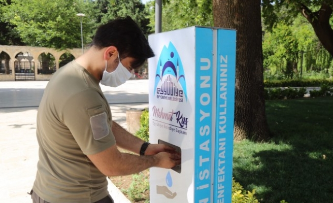 Eyyübiye'de dezenfekte istasyonları arttırılıyor