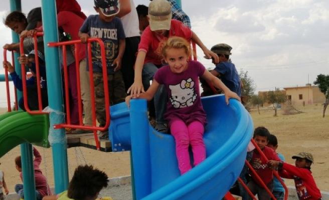 Barış Pınarı çocuklarının en mutlu günü