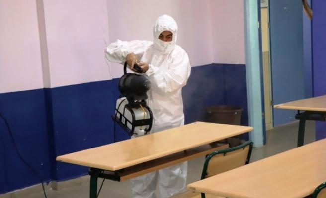 YKS öncesi Urfa'daki okullar dezenfekte ediliyor
