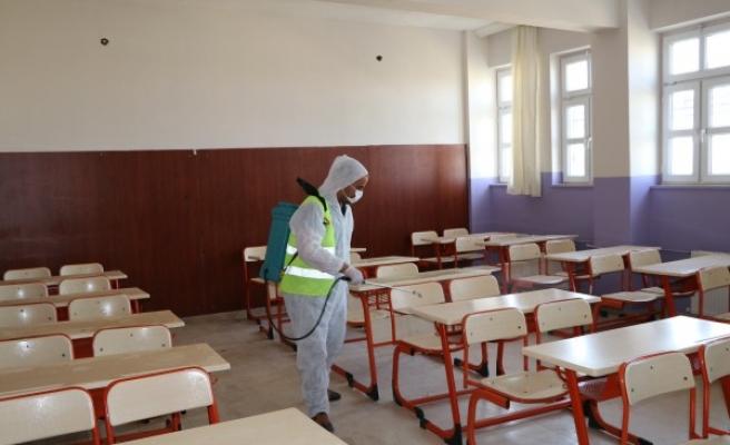Şanlıurfa'nın ilçesinde sınav hazırlıkları yapıldı
