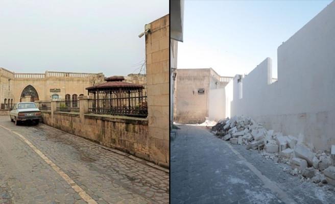 Tartışma konusu olan duvar yıkıldı