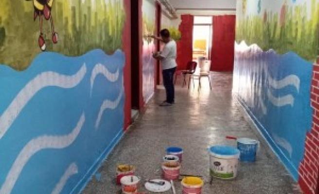 Urfa'daki okulda açılış hazırlıkları başladı!
