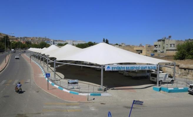 Urfa'nın ilçesinde sosyal mesafeli açılış