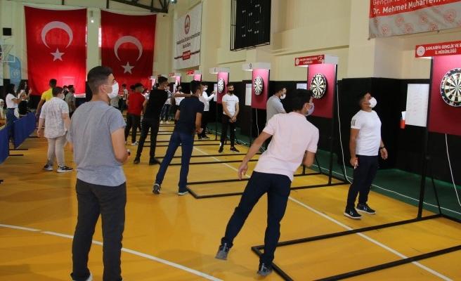 Urfa'da düzenlenen 'dart' turnuvasına yoğun ilgi