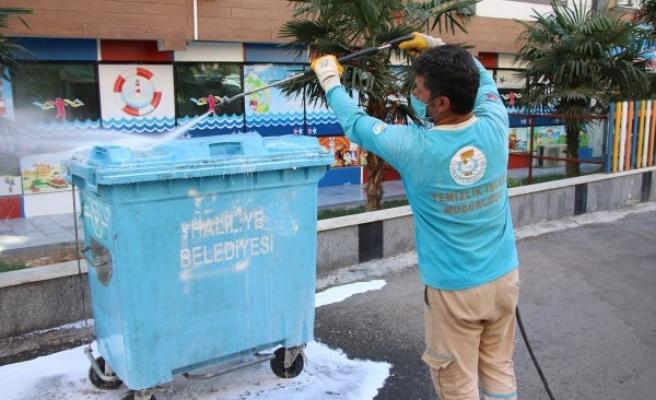 Haliliye'de temizlik ve hijyen çalışmaları sürüyor