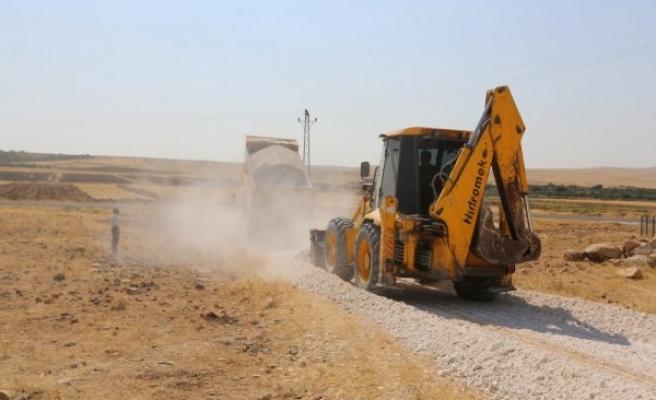 Haliliye'de yollar kış için hazırlanıyor