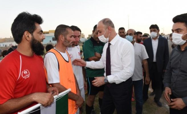 Suriye'de düzenlenen futbol turnuvası sona erdi