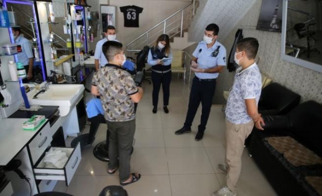 Haliliye'de koronavirüs denetimleri sürüyor