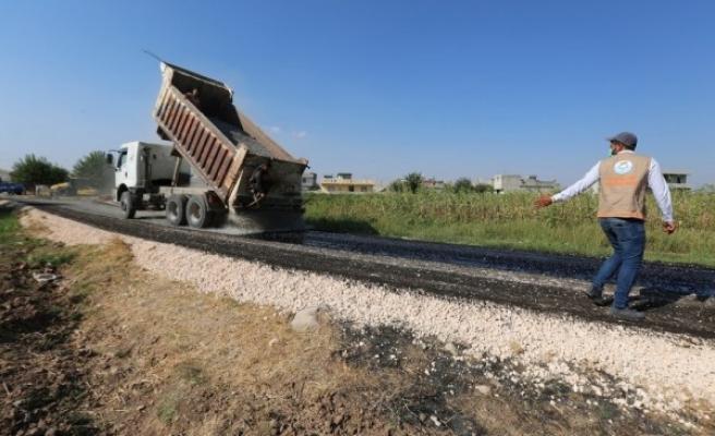Haliliye kırsalında asfaltlama çalışmaları sürüyor
