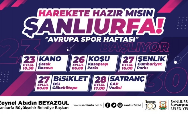 Şanlıurfa'da 'Avrupa Spor Haftası' etkinlikleri başlıyor